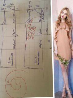 Dress pattern ruffles