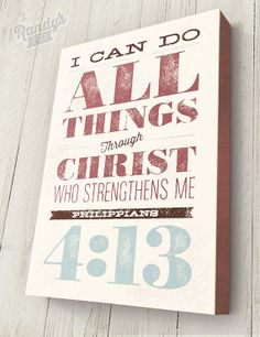 Custom Typography Bible Verse Traditional Canvas by RandysDesign, $69.00