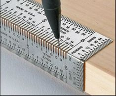 This is an awesome new tool for use on the edge of a workbench for precise measuring. Use with a .5mm mechanical pencil for error-free precision marking.