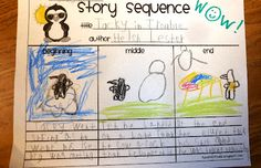 Story sequencing with Tacky the Penguin.