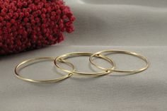 A personal favorite from my Etsy shop https://www.etsy.com/il-en/listing/262077347/3-stacking-rings-round-14k-yellow-gold