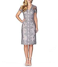 La Femme Scalloped Lace Midi Dress #Dillards