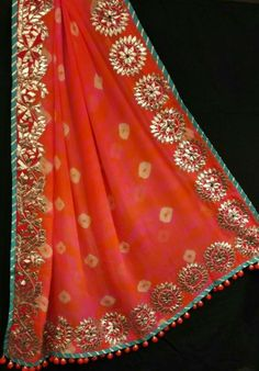 #love gotta Patti #sari Indian Attire, Indian Wear, Pakistani Outfits, Indian Outfits, Gota Patti Suits, Gota Patti Saree, Embroidery Suits, Pakistani Bridal, Amai