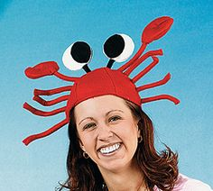 Adult or Child Red Felt Crab Lobster Hat Very Funny Luau Party Costume Crab Costume, Costume Hats, Cool Costumes, Halloween Costumes, Halloween Stuff, Costume Ideas, Ocean Party, Luau Party, Sea Creature Costume