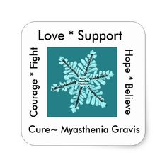 Shop Love/ Hope/ Fight / Cure - Myasthenia Awareness Square Sticker created by TheTealRibbonCause. Personalize it with photos & text or purchase as is! Mirrors For Makeup, Photo Cutout, Myasthenia Gravis, Snowflake Designs, Compact Mirror, Custom Stickers, Simple Designs, Fundraising, Snowflakes