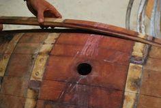Oak Wine Barrel Coffee Table : 11 Steps (with Pictures) - Instructables Wine Barrel Coffee Table, Wine Barrel Chairs, Wine Barrel Furniture, Wine Barrels, Coffee Tables, Car Part Furniture, Furniture Design, Furniture Plans, Automotive Decor