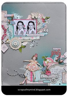 Once upon a Girly Girl....using Webster's Pages Girl Land