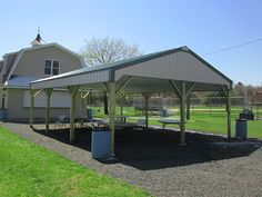 Dimensions 30 w x 60 l x 10 h pavilion id 086 hip for Pole barn roof pitch