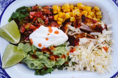Skinny Crispy-Chicken Burrito Bowls with Cauliflower rice  (Low carb)- The Londoner