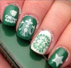 9 Best Starbucks Nail Art Ideas Images Starbucks Nails Pretty