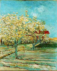 Orchard in Blossom, Vincent Van Gogh