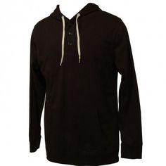 Matix Clothing Mens Sweatshirt Builders Henley Black