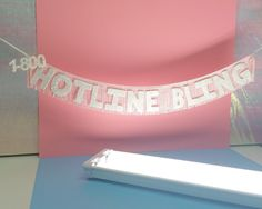 Hotline Bling Glittering Fringe Banner | Drake banner, 1-800 Hotline Bling, wall hanging, artwork, party banner, home decor, bachelorette by FunCult on Etsy