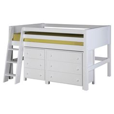 Camaflexi Panel Headboard Low Loft Storage Bed - The Camaflexi Panel Headboard Low Loft Storage Bed is a complete kid bedroom makeover that saves space and does it in style. This set includes a sturdy...