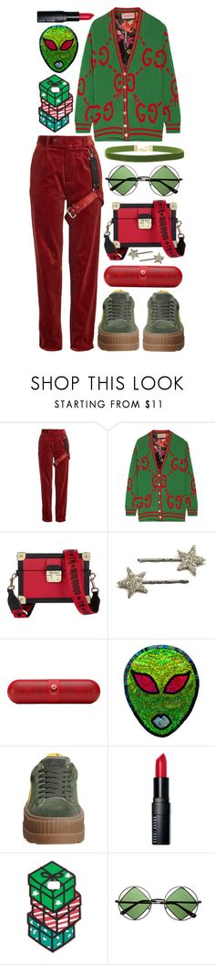 """""""Almost Christmas 🎄 🎉"""" by emmaadv ❤ liked on Polyvore featuring Alyx, Gucci, Tommy Hilfiger, Beats by Dr. Dre, Bobbi Brown Cosmetics, Celebrate Shop, Retrò and Rock 'N Rose"""