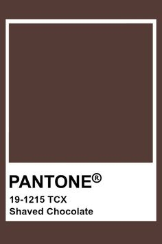 Pantone Shaved Chocolate Chocolate in 2019 Brown pantone brown color theory - Brown Things Pantone Tcx, Paleta Pantone, Pantone Swatches, Color Swatches, Pantone Colour Palettes, Pantone Color, Brown Pantone, Coffee Colour, Coffee Brown Color