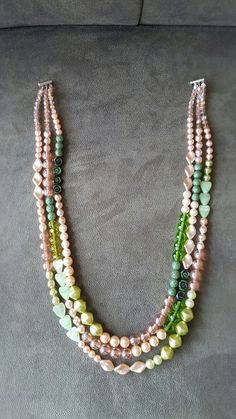 Salm and pink nacklace.