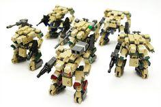 Another great build from legorobo:waka ! I'm really fan of this Mechas / Frames… Robot Lego, Lego Bots, Lego Army, Lego Military, Legos, Zoids, Lego Custom Minifigures, Lego Machines, Micro Lego