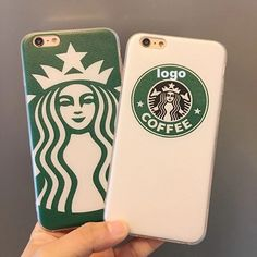 Painted Starbuck s Amor Design Transparent Frame Matte Face Phone Case Back Cover For Apple iPhone 5/5S SE 6/6S 6/6S Plus