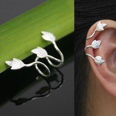 Ivy Leaf Cartilage Wrap ear cuff No piercing Earring wholesale in Jewelry & Watches, Fashion Jewelry, Earrings | eBay
