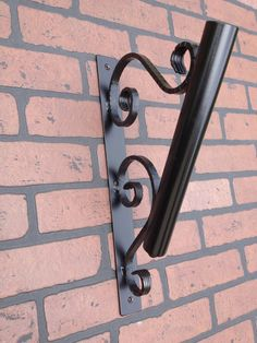 Flag Pole Holder Wall Mount Wrought Iron with by Ironandstonedecor, $33.00