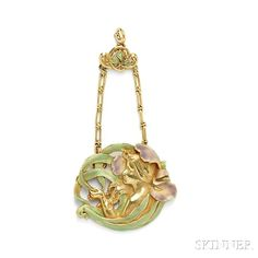 art nouveau jewelry | Three Art Nouveau jewelry at at Skinner, Fine Jewelry, September 9 ...