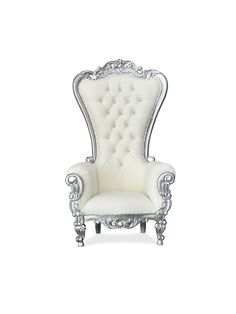 King Throne Chair, King On Throne, Victorian Decor, Room Chairs, Bed Room, Flyer Design, Armchair, Ivory, Party Ideas