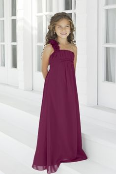 Something like this for Ava? Charmeuse Pleated,Straps Style 44 Junior Bridesmaid Dress by Alexia Designs