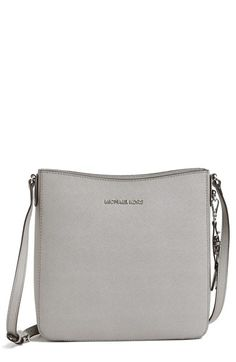 MICHAEL Michael Kors 'Large Jet Set' Crossbody Bag available at #Nordstrom, Pearl Gray, $228