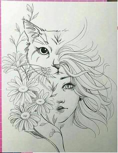 Cat Beautiful Drawing Image Design Design Cat Beautiful Drawing Image Design Design Schablone The post Cat Beautiful Drawing Image Design Design appeared first on Katzen. Pencil Art Drawings, Art Drawings Sketches, Cat Drawing, Tattoo Drawings, Drawing Tips, Drawing Faces, Tattoo Sketches, Easy Drawings, Drawing Ideas