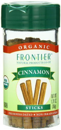 Frontier Organic Whole Cinnamon Sticks,  1.28 Ounce - http://goodvibeorganics.com/frontier-organic-whole-cinnamon-sticks-1-28-ounce/