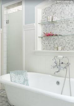 Imagine this shelving with a frosted window behind it instead of tiles. Be great for our new bathroom to let light in, allow for shelving above the bath tub and add an interesting feature into the room.