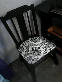 refinished wooden chair use coordinating colors with desk