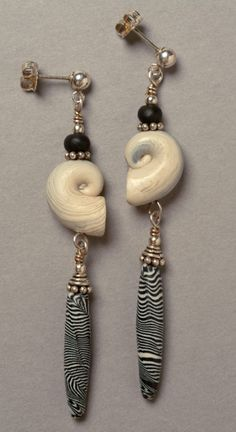 Shells - this woman does polymer clay mixed with other stuff... very ancient and organic