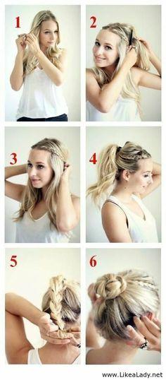 Nice bun tutorial