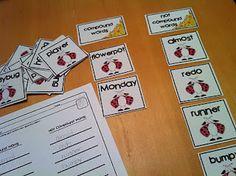Compound Words - The Lesson Plan Diva 3rd Grade Classroom, Classroom Fun, Future Classroom, Kindergarten Language Arts, Classroom Language, Literacy Stations, Literacy Activities, Literacy Centers, Word Work