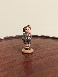 """Dollhouse Miniature Hummel Figurine """"Brother"""" by Artisian Michael James Small Figurines, Miniature Figurines, Hummel Figurines, Manners, Dollhouse Miniatures, Brother, Ebay, Style, Swag"""