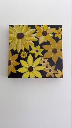 Acrylic painting of multiple sunflowers by CreationsByLF on Etsy Garden Poles, Beautiful Paintings, Sunflowers, Color Pop, Craft Supplies, Valentines, Canvas, Handmade Gifts, Etsy
