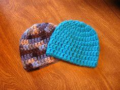 Lickety Split Crocheted Newborn Hats