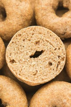 healthy mini whole wheat bagels (yeast) | amys healthy baking