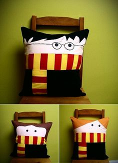 Harry Potter pillows, these are SEW cute!!!