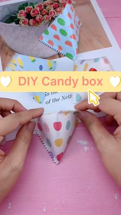 Boy Diy Crafts, Diy Crafts For Adults, Diy Crafts For Gifts, Diy For Kids, Fun Crafts, Paper Crafts Origami, Origami Candy, Origami Art, Christmas Crafts