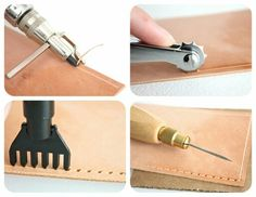Prepare leather for sewing