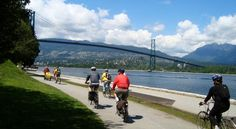 People having a good time in Stanley Park