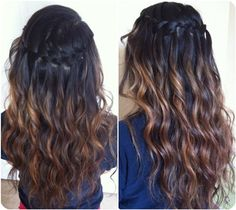 brown to black ombre hairstyle back to school with brown ombre hair extensions