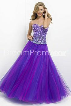 2014 Floor-length Beading Sweetheart Tulle Ball Gowns/Prom Dresses