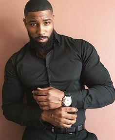 The biggest advantage that black men possess is that black men beard styles can be complemented with their skin tone and hair Beard is the primary physical asset that separates the men from the boys Fine Black Men, Handsome Black Men, My Black Is Beautiful, Black Boys, Fine Men, Gorgeous Men, Black Men In Suits, Beautiful Men Bodies, Strong Black Man