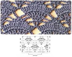 more charts for crochet stitches - russian site