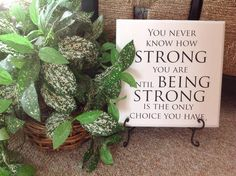 Know someone who is fighting a battle?  This is a beautiful gift for them to remind them how STRONG they are.  #UppercaseLiving #ULvinyl