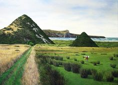 The Pyramids, Victory Beach, Otago. Childhood (and adulthood) haunt. A super place to explore with hidden gems to find. New Zealand Art, Nz Art, Arts Award, South Island, Surrealism, Explore, Gallery, Beach, Places